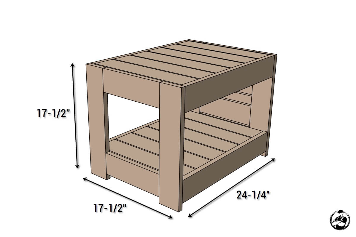 DIY Belvedere End Table - Dimensions