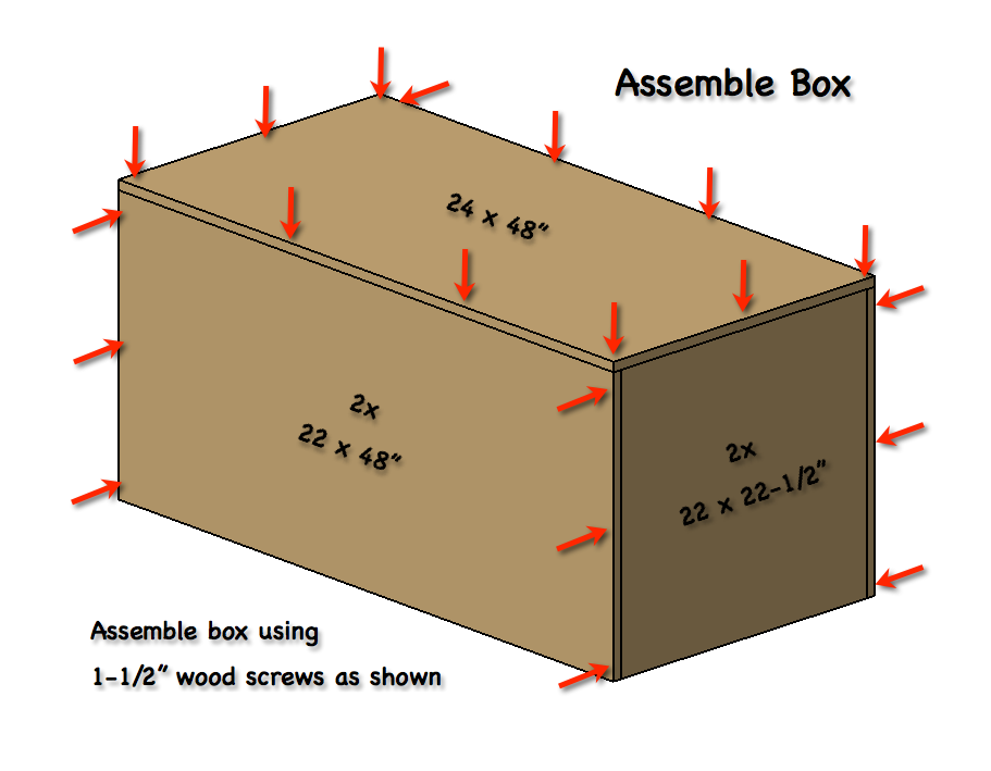 How to build a large wooden box frame