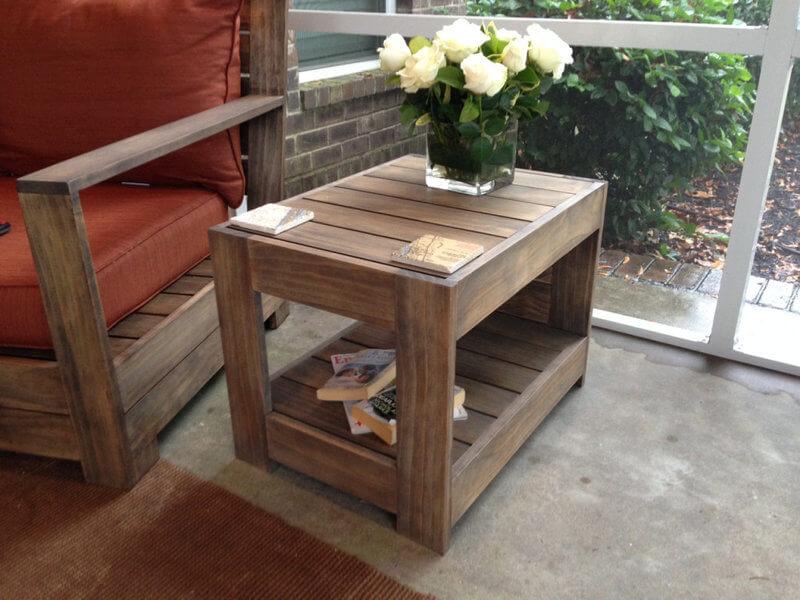 Belvedere Outdoor End Table Plans | Restoration Hardware ...