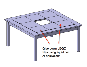 Step 6: Free DIY LEGO Table Plans