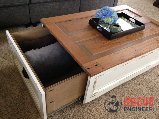 Diy Coffee Table Hidden Storage