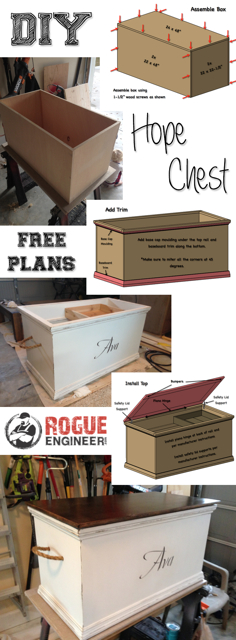 Free Hope Chest Plans | by Rogue Engineer