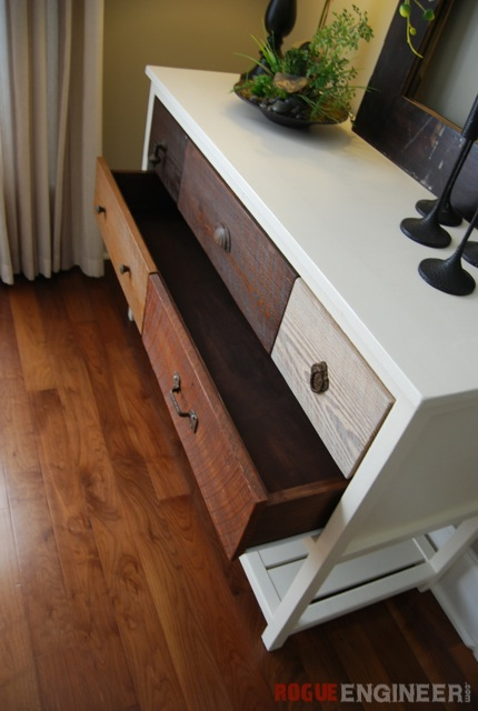 Console Table Plans - Bottom Drawer Open