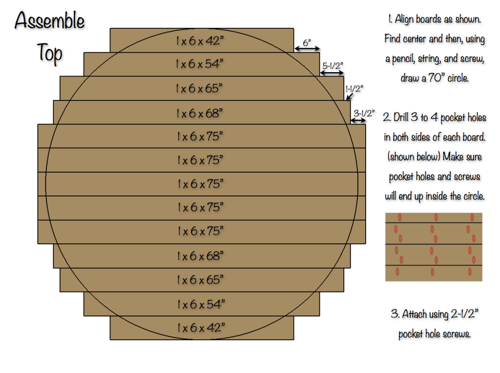 Round Table For 4 Diameter: 70 Inch Round Table Top » Rogue Engineer