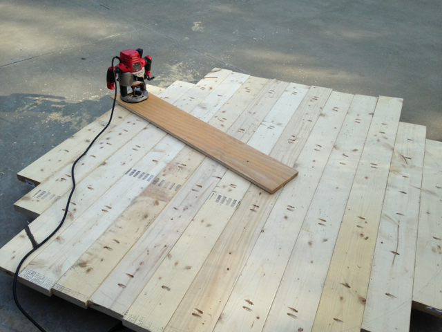 Step 1: Screw Jig into center of the table top.