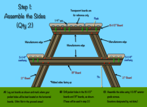 Composite Toddler Picnic Table Plans - Step 1