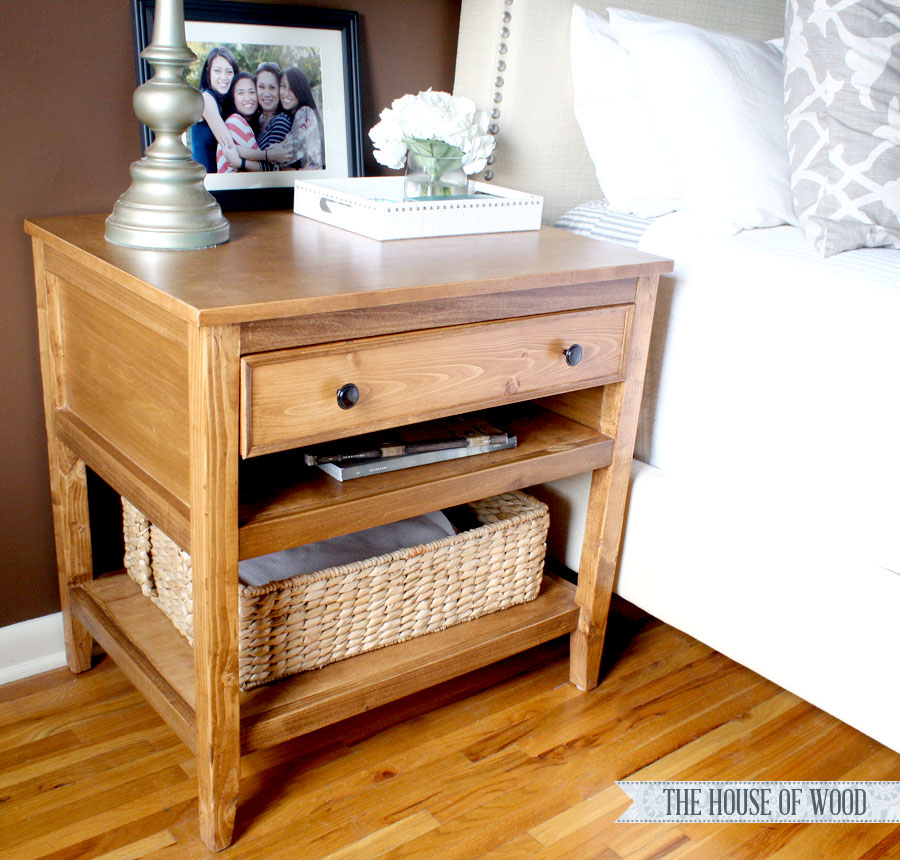 DIY Bedside Table Plans - Closeup