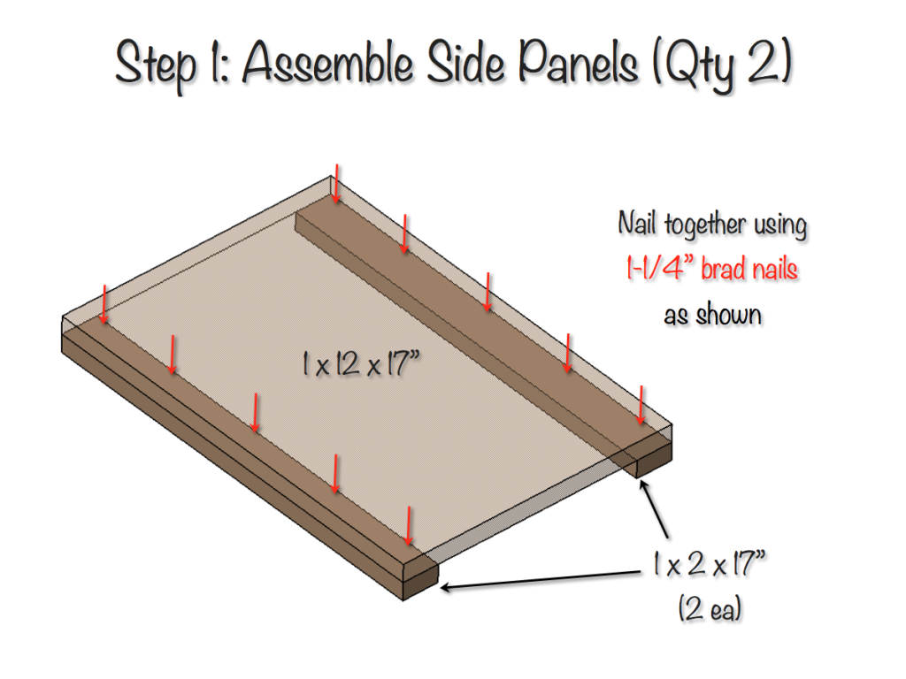 DIY Bedside Table Plans - Step 1