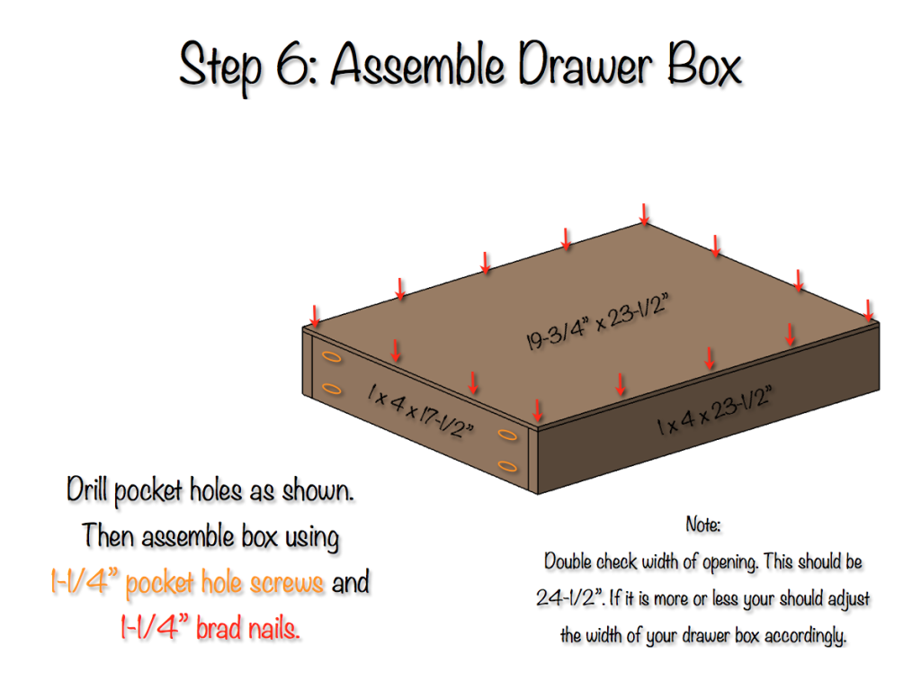 DIY Bedside Table Plans - Step 6