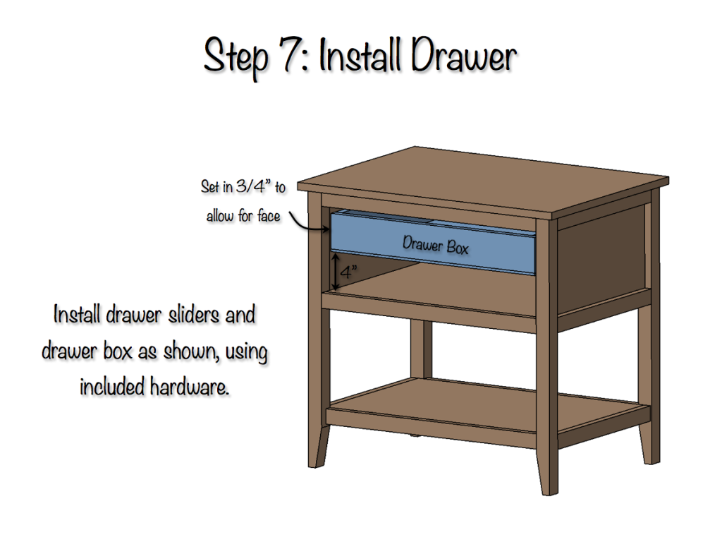 DIY Bedside Table Plans - Step 7