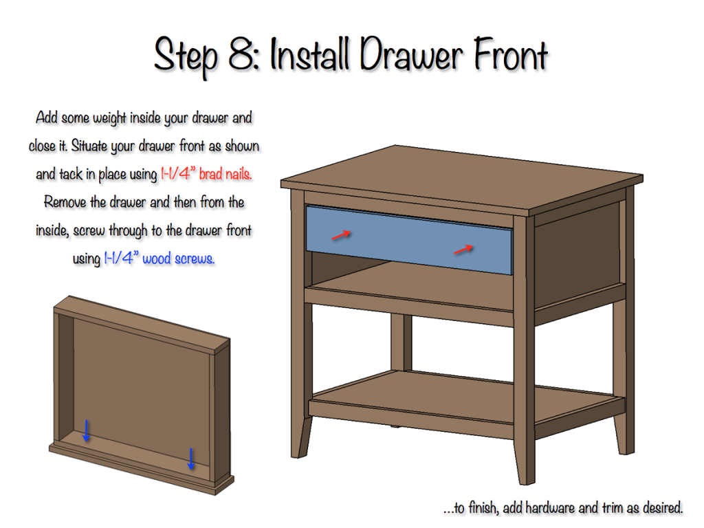DIY Bedside Table Plans - Step 8