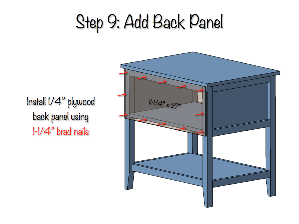 DIY Bedside Table Plans - Step 9