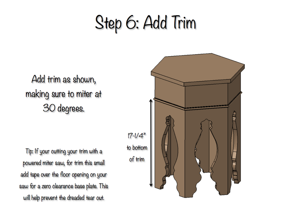 Moroccan Side Table - Step 6
