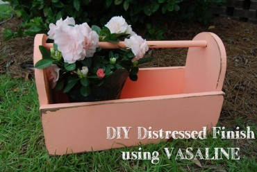 DIY Distressed Finish using Vaseline