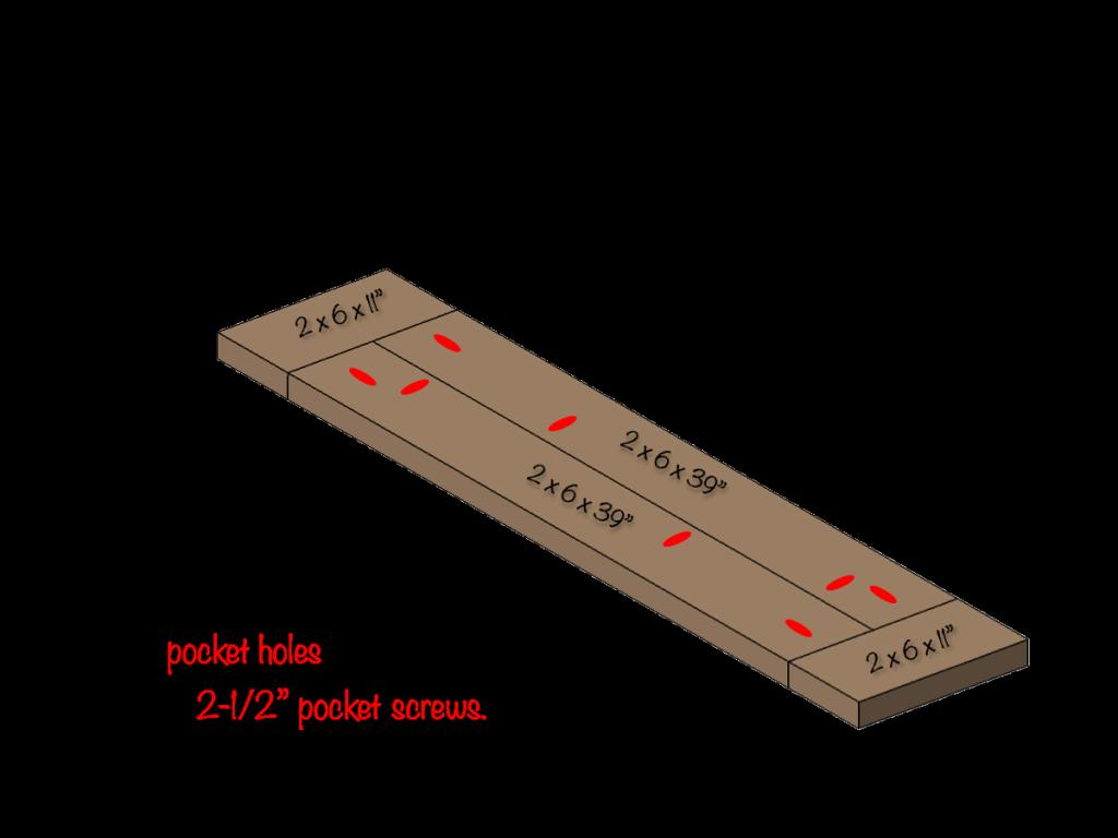 DIY Farmhouse Bench Plans - Step 3