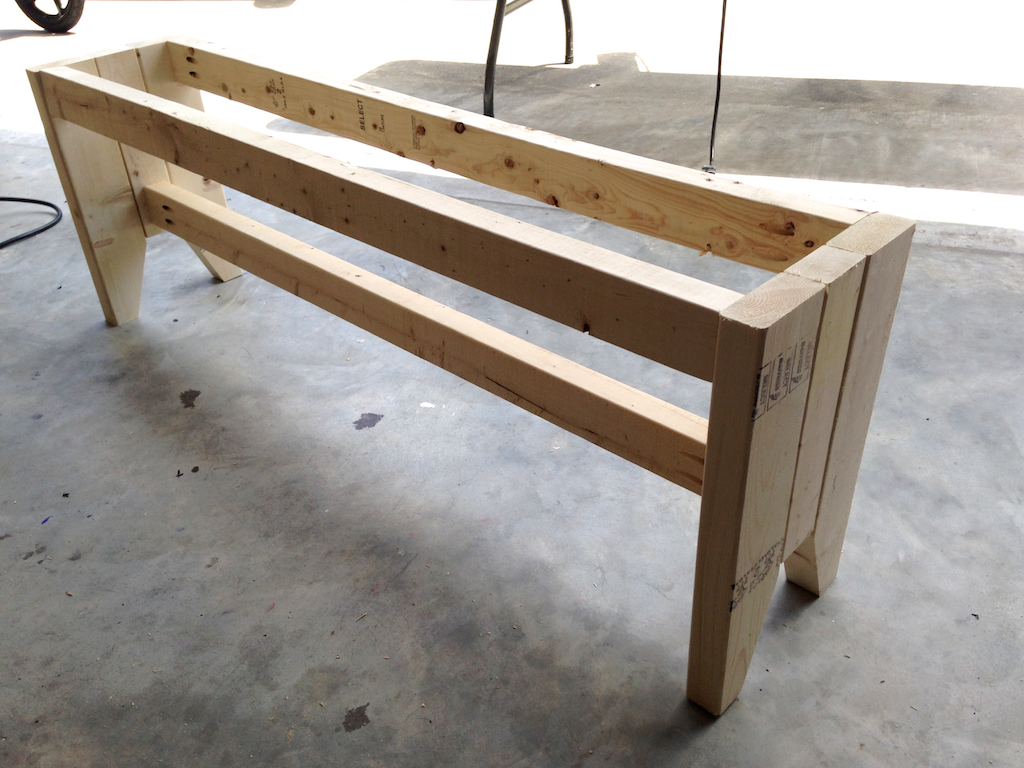 DIY Farmhouse Bench - Step 2