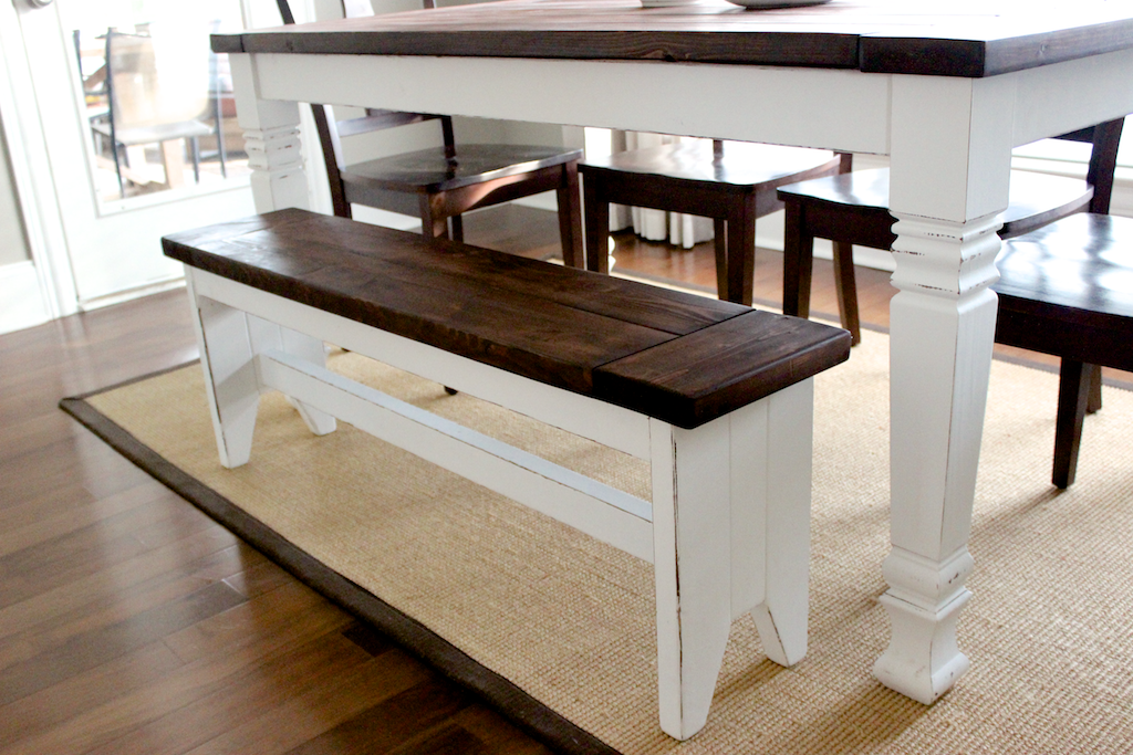 DIY Farmhouse Bench - Step 4