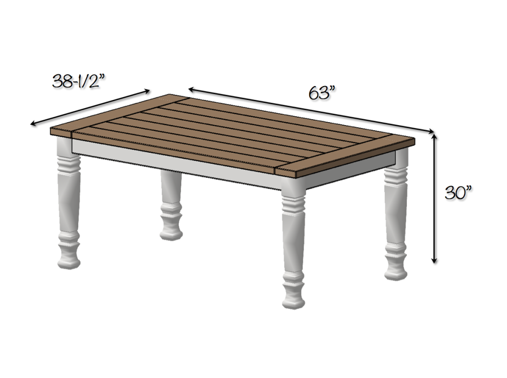 diy farmhouse dining table plans dimensions