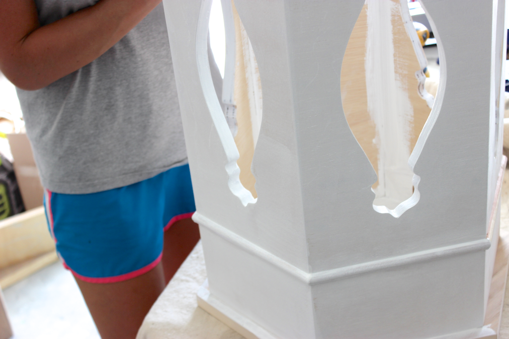 Moroccan Side Table - Finishing - First Coat