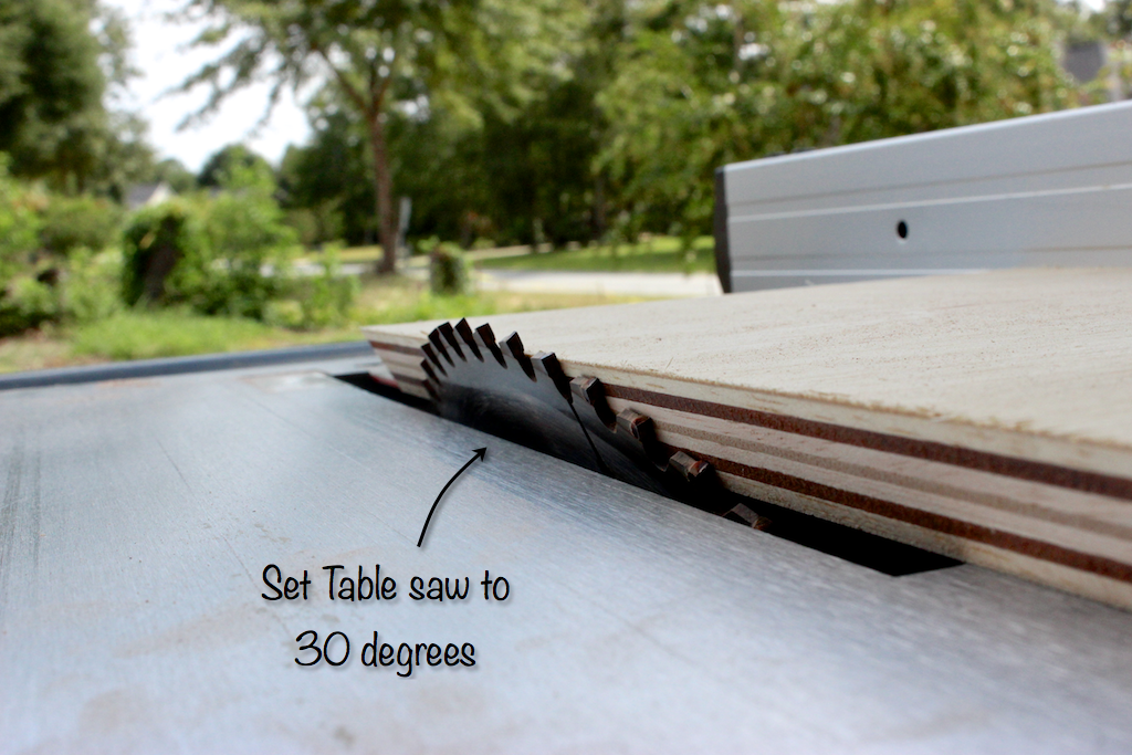 Moroccan Side Table - Step 1 - Table Saw