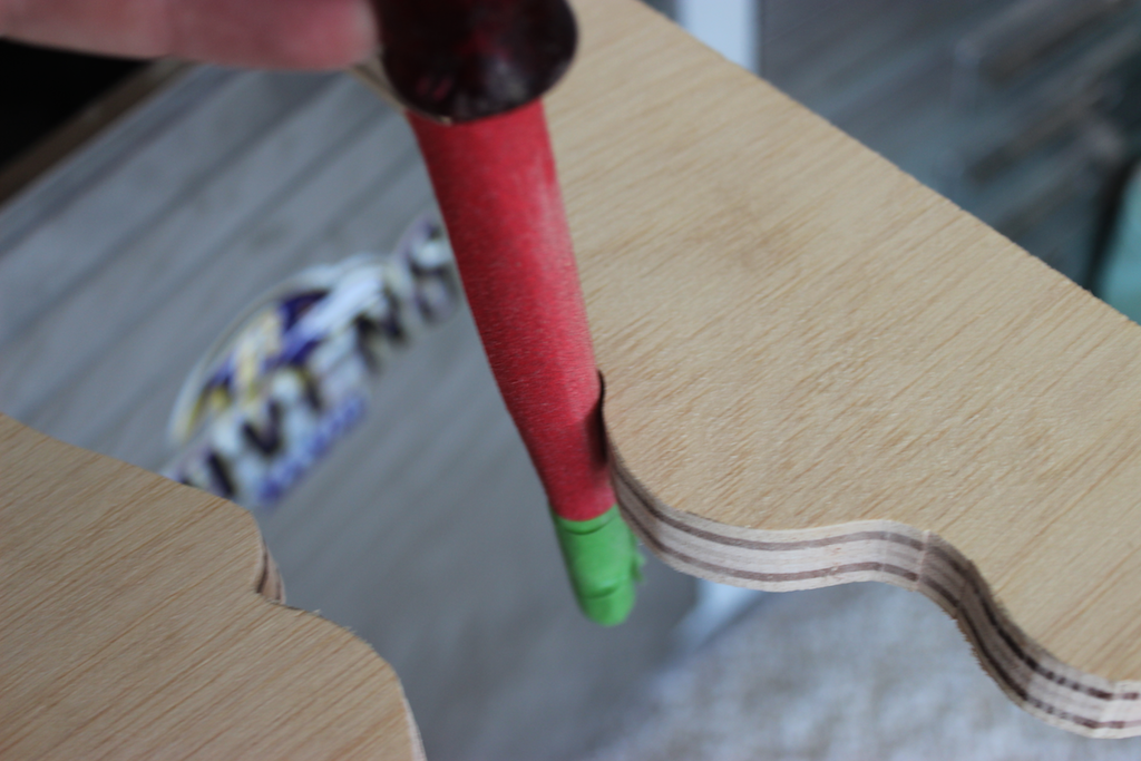 Moroccan Side Table - Step 2 - Sanding