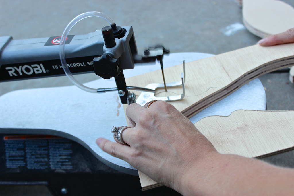Moroccan Side Table - Step 2 - Scroll Saw