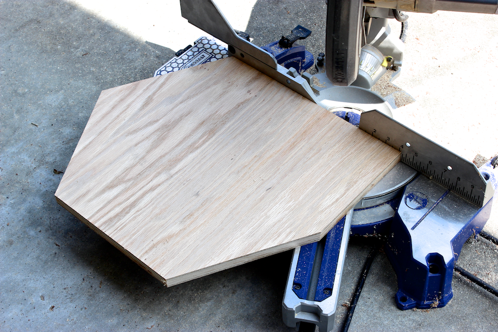 Moroccan Side Table - Step 3 - Cutting Top