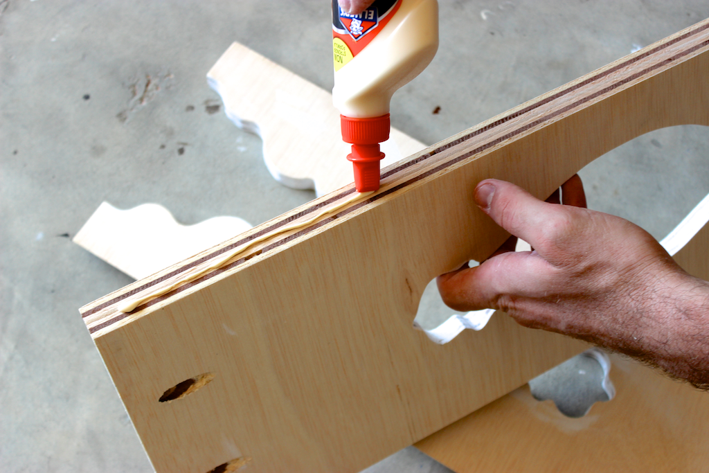 Moroccan Side Table - Step 4 - Apply wood glue