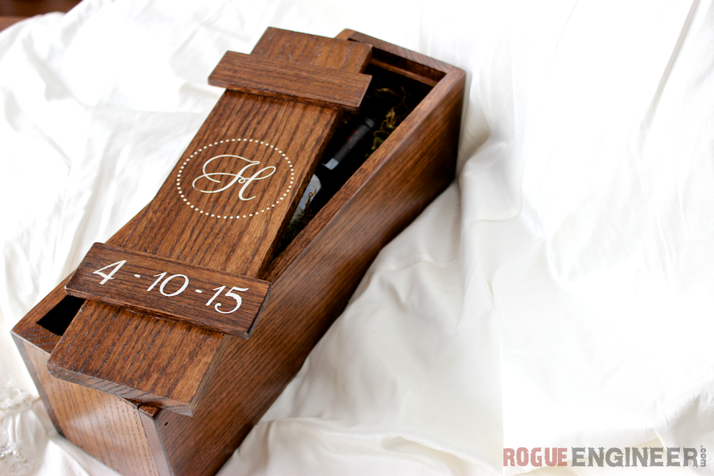 Diy Wedding Wine Box Free Plans Rogue Engineer