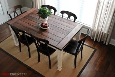 DIY Farmhouse Dining Table | Free Plans