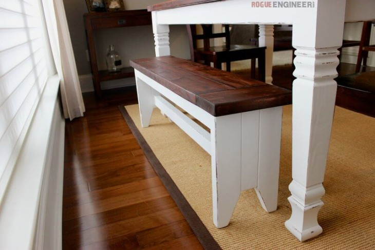Phenomenal Diy Farmhouse Bench Free Plans Rogue Engineer Theyellowbook Wood Chair Design Ideas Theyellowbookinfo