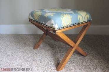 DIY Upholstered X Bench | Free Plans