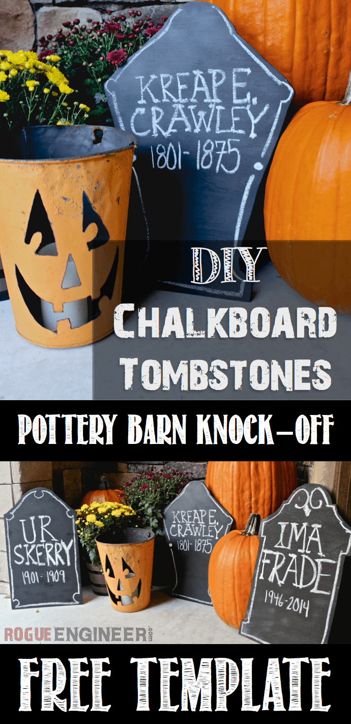 Diy Chalkboard Tombstones Pb Knock Off Free Template