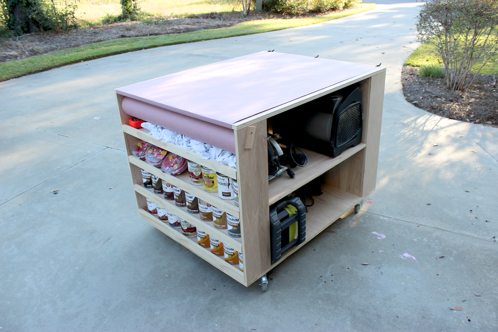 DIY Portable Workbench with Storage | Free Plans | Rogue Engineer