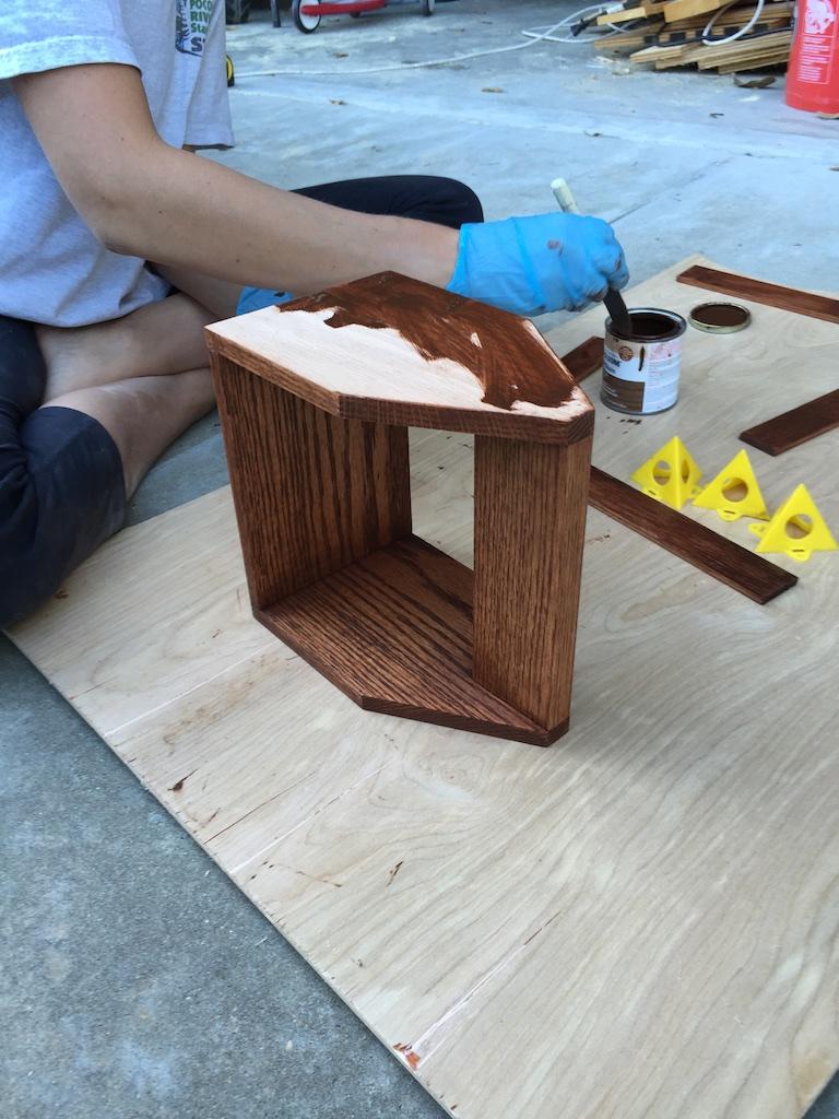 DIY Beer Tote - Stain