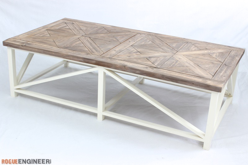 DIY Parquet Coffee Table Plans - Rogue Engineer 2