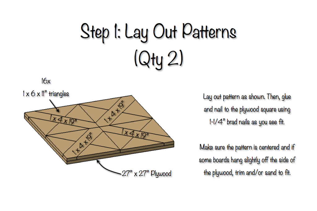 DIY Parquet X-Brace Coffee Table Plans | Step 1