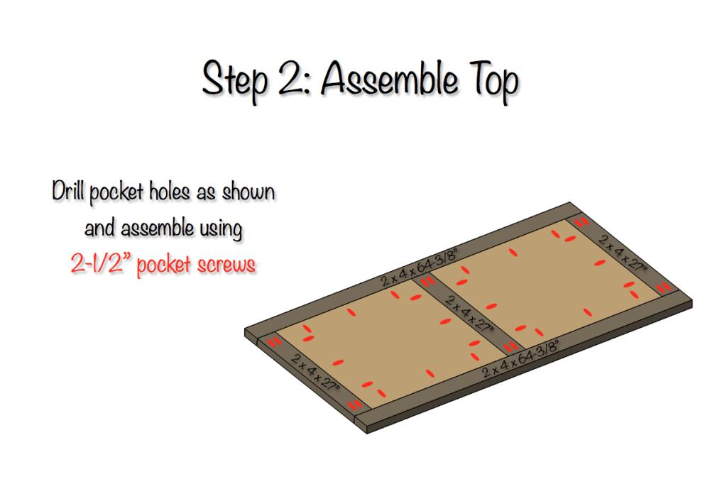 DIY Parquet X-Brace Coffee Table Plans   Step 2