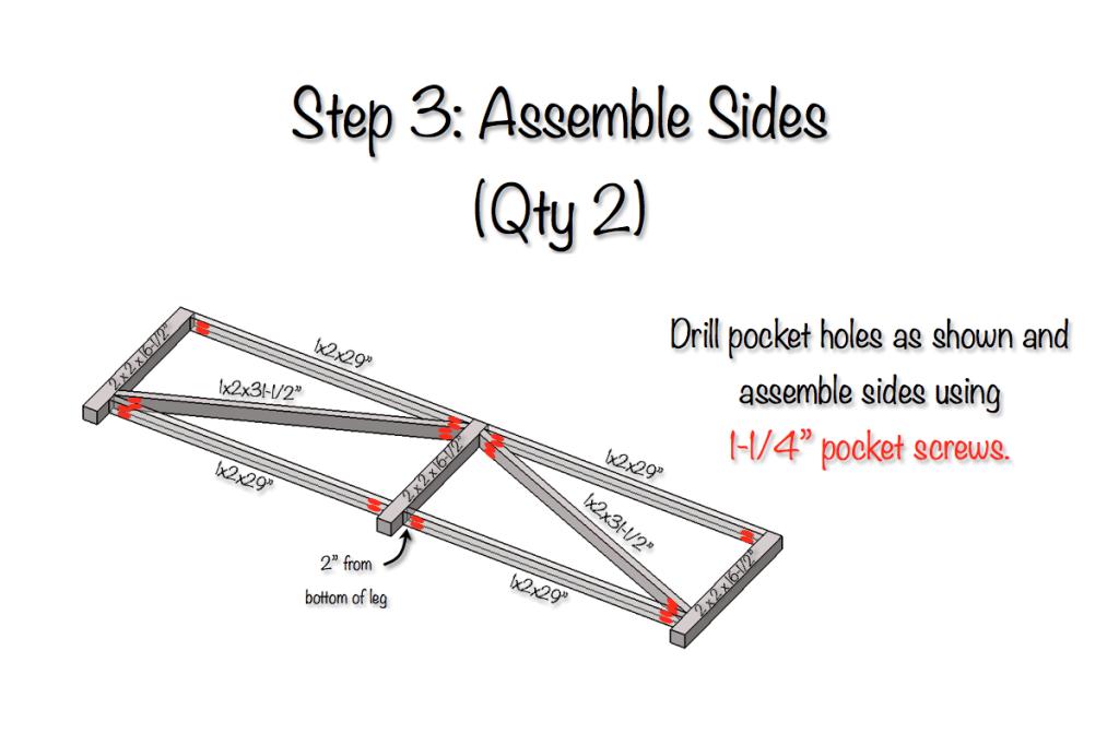 DIY Parquet X-Brace Coffee Table Plans   Step 3