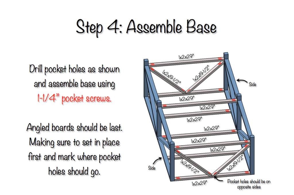 DIY Parquet X-Brace Coffee Table Plans   Step 4