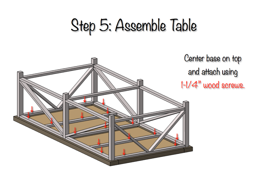 DIY Parquet X-Brace Coffee Table Plans | Step 5
