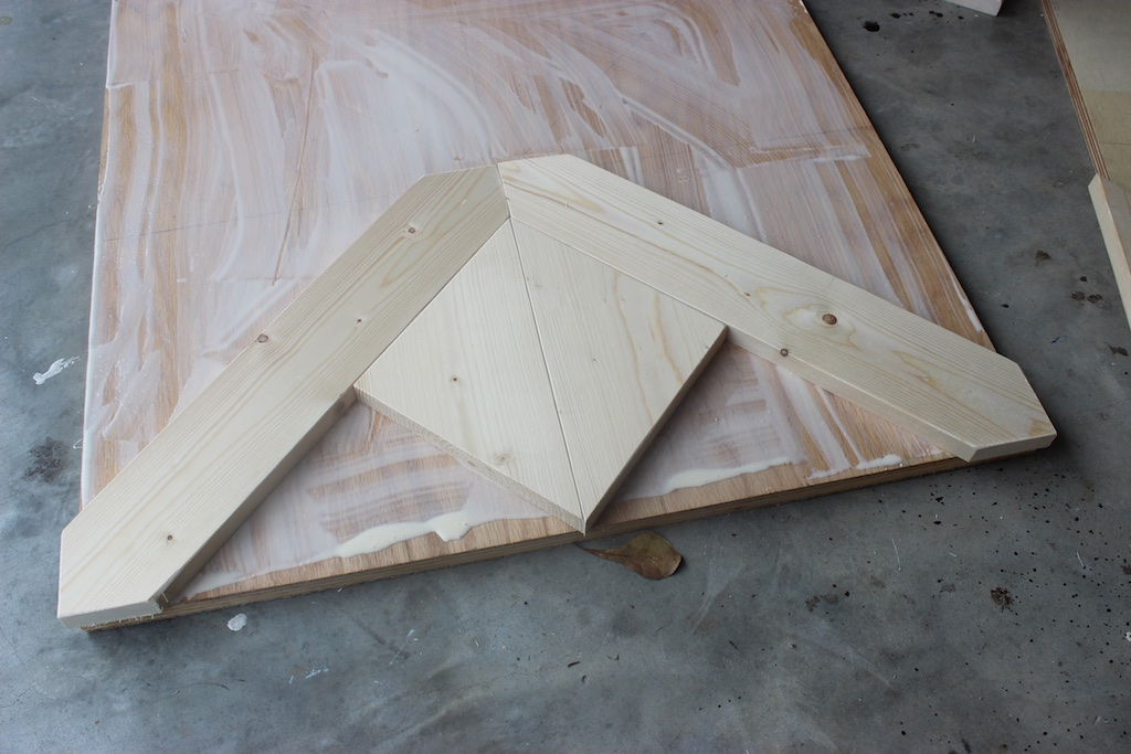 DIY Parquet X-Brace Coffee Table   Step 1