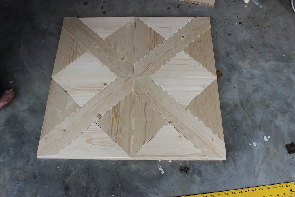 DIY Parquet X-Brace Coffee Table | Step 1