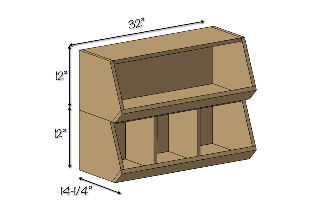 DIY Pottery Barn Bulk Bin Knock-off - Dimensions
