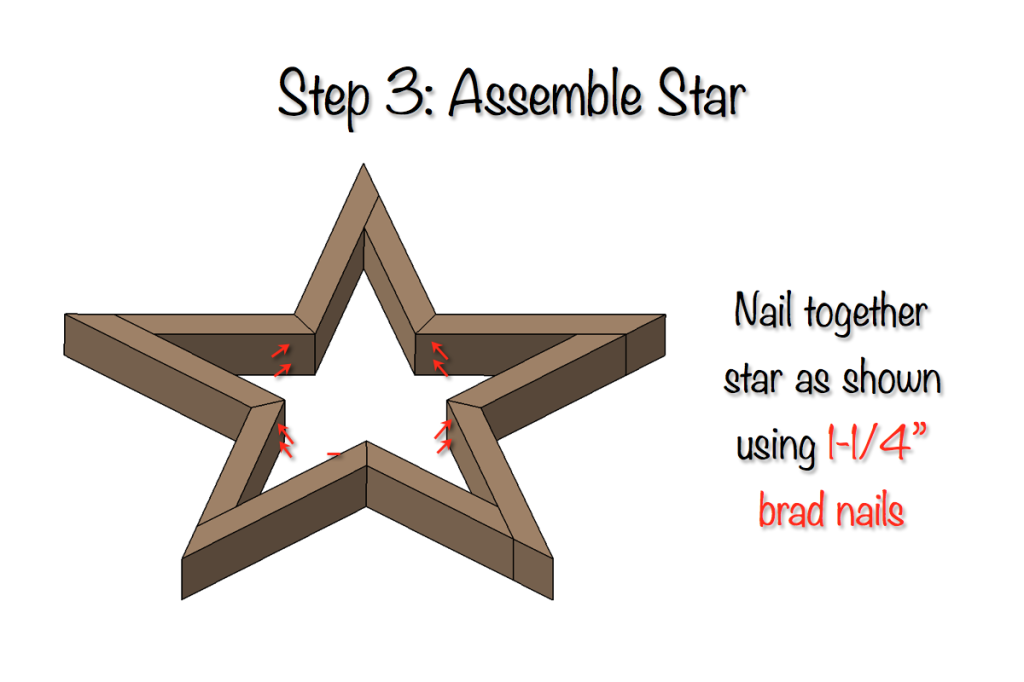 DIY Star Decor | Free Plans | Step 3