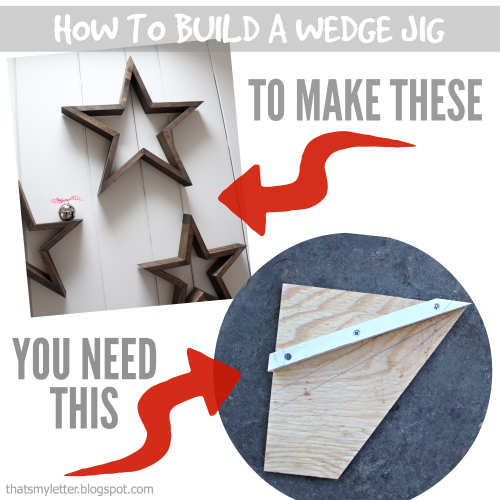 DIY Star Decor | Free Plans | Wedge Jig
