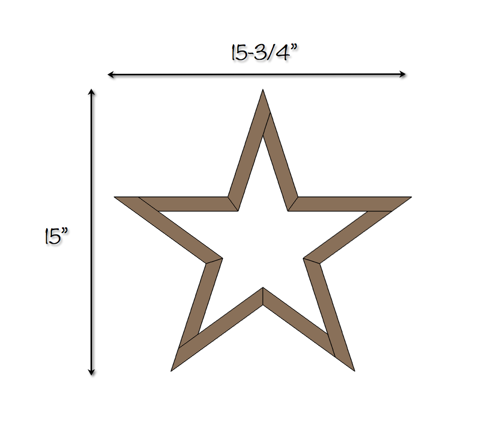 DIY Star - Free Plans - Dimensions