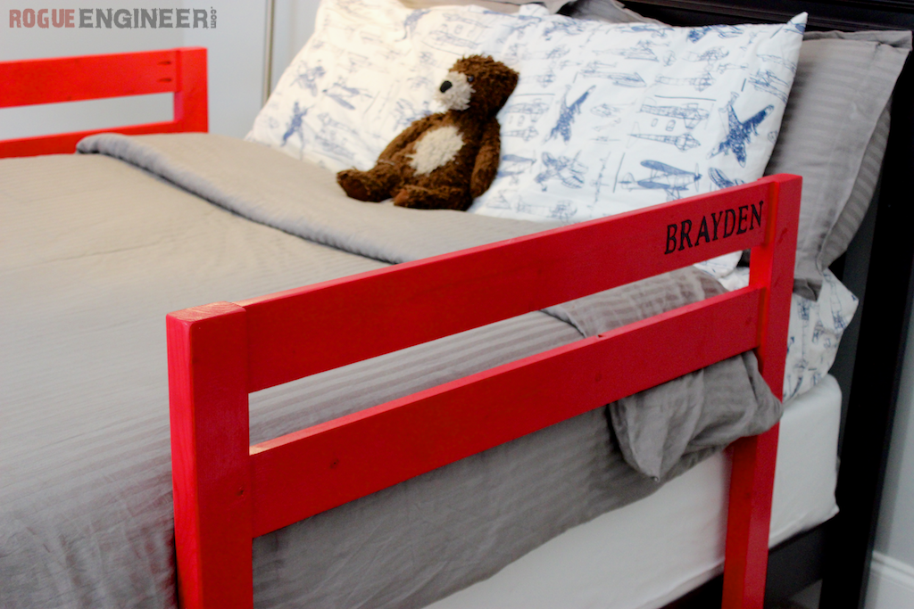 diy toddler bed rail free plans built for under 15