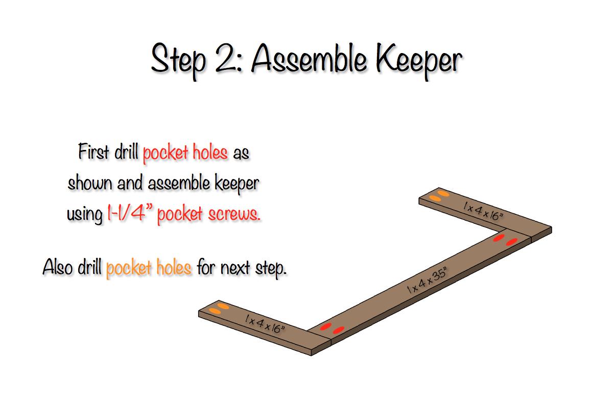 DIY Toddler Bed Rail | Step 2