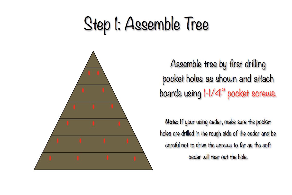 Tree Advent Calendar   PB Knock-off   Step 1